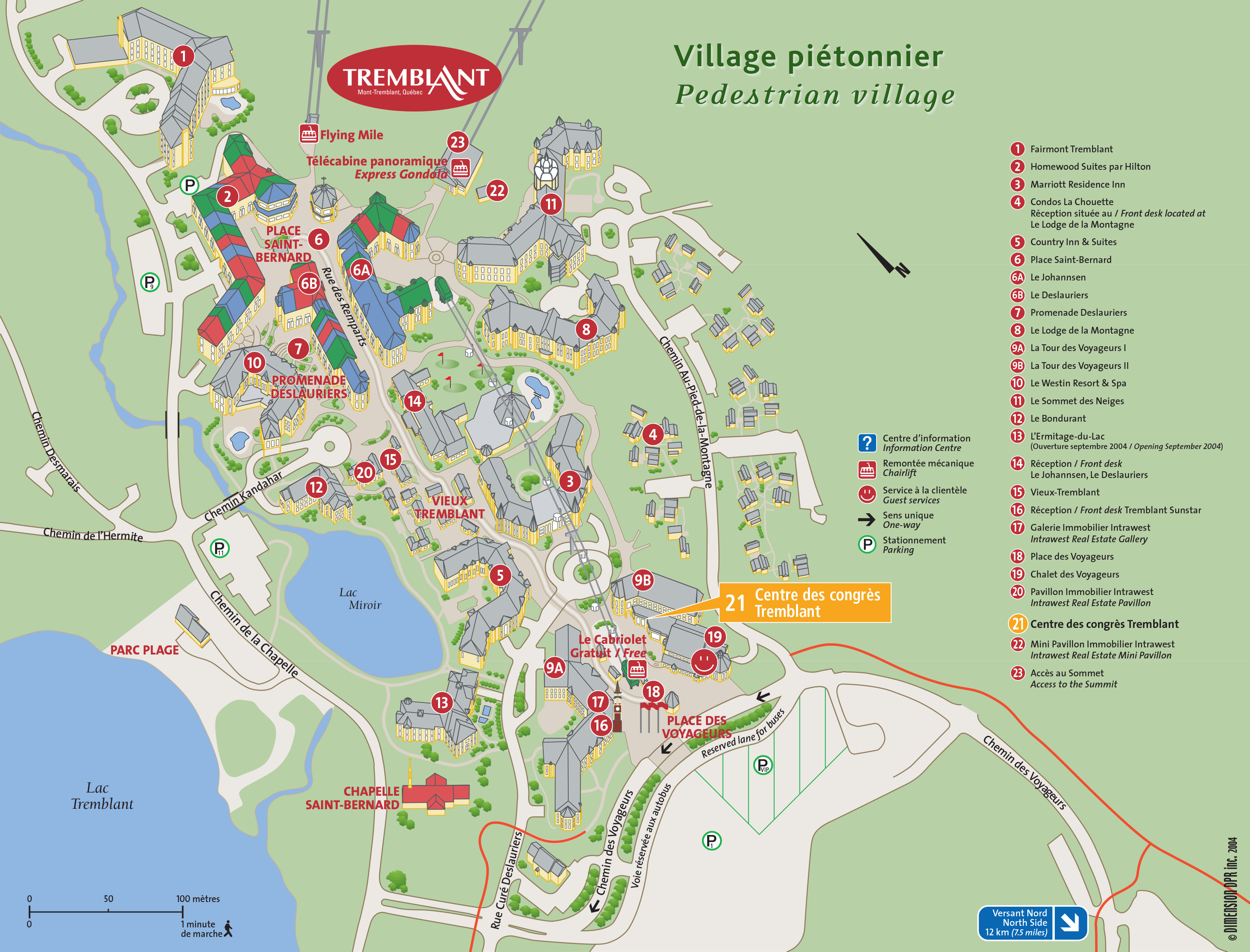 Mont Tremblant Village Map 2016 EFC Summer Conference